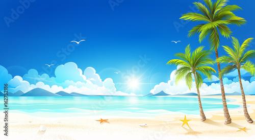 Fotografia Tropical beach. Vector