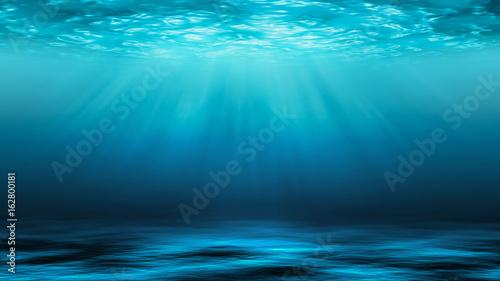 Cuadros en Lienzo Sunbeams and Sea deep or ocean underwater as a background.