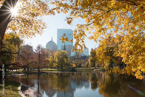 Cuadros en Lienzo Boston Common Autumn Day