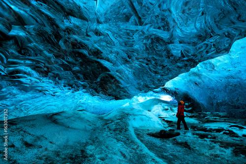 Fototapeta ice cave, vatnajokull national park, Iceland