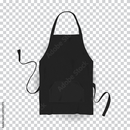 Canvas Print Realistic black kitchen apron