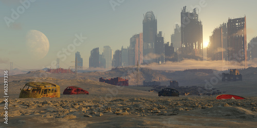 Carta da parati paisaje apocaliptico