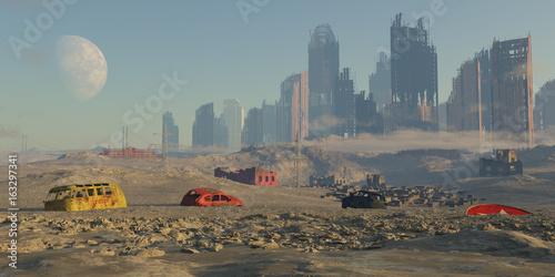 Photo paisaje apocaliptico