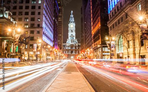 Obraz na plátně Philadelphia City Hall at Night