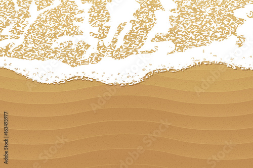 Stampa su Tela Soft wave on the beach, vector background