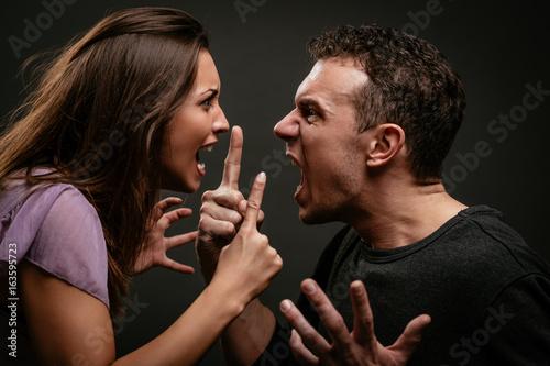 Obraz na płótnie Angry Couple