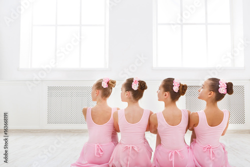 Fényképezés Little ballerinas in ballet studio