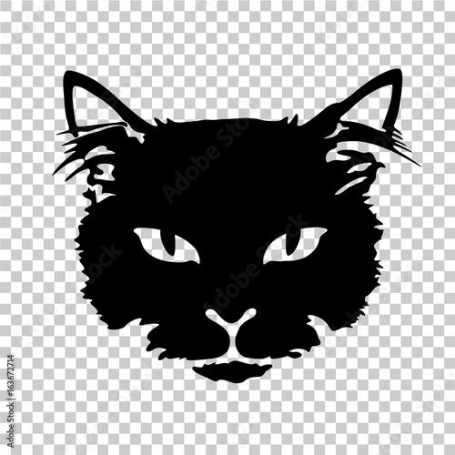Valokuva black cat silhouette tattoo