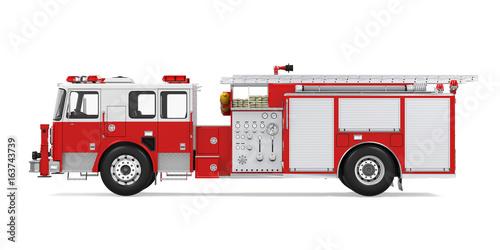 Fotografia, Obraz Fire Rescue Truck Isolated