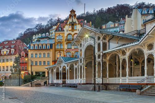 Stampa su Tela city centre of Karlovy Vary,Czech Republic