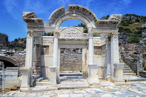 Fotografie, Tablou The Temple of Hadrian of Ephesus Ancient City