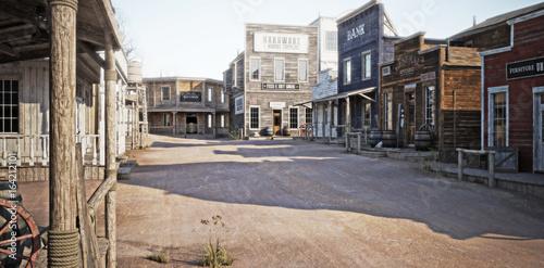 Fotografija Western town with various businesses . 3d rendering