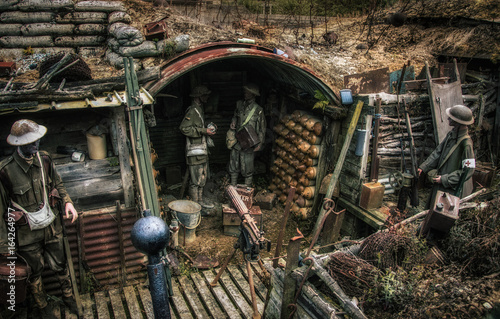 Wallpaper Mural World War one trenches