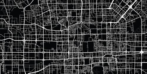 Fotografie, Obraz Vector city map of Beijing, China