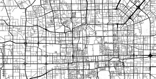 Obraz na plátně Vector city map of Beijing, China