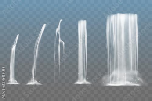 Fototapeta Pięć wodospadów na szachownicowym tle do pokoju