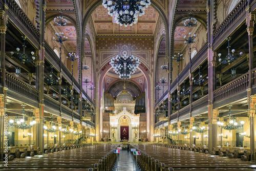 Fotografia Great Jewish synagogue in Budapest, Hungaria