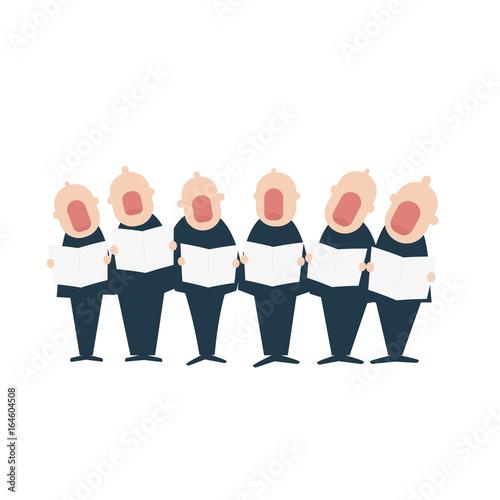 Male chorus in action Fototapeta
