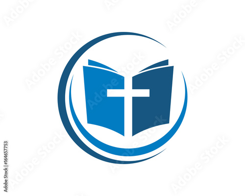 Photo religion cross symbol logo template