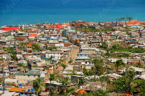 Obraz na plátně Aerial view of Baracoa in Cuba