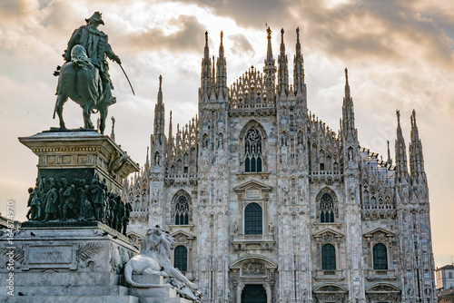 Canvas Print Milan Cathedral in Italy