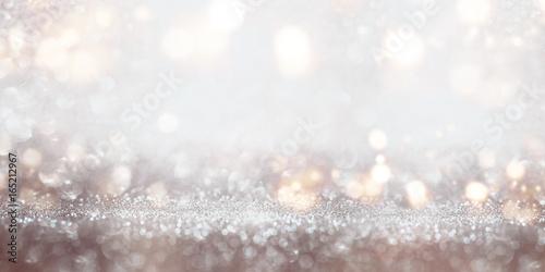 Festive glittering silver bokeh background Fototapet