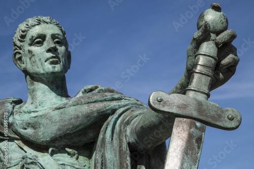 Constantine the Great Statue in York Fototapeta