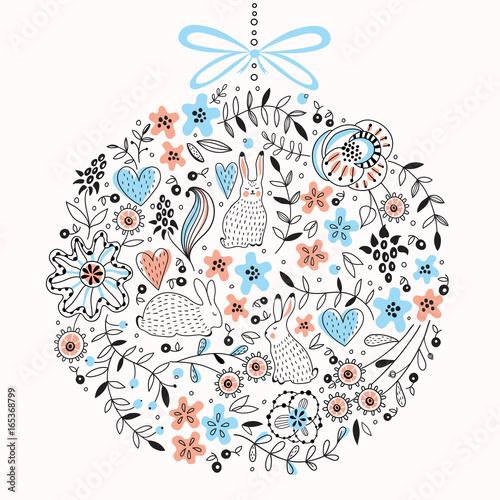 Okrągły wektor kwiatowy wzór
