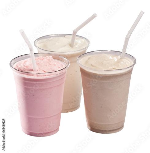 Canvas Print three milkshakes