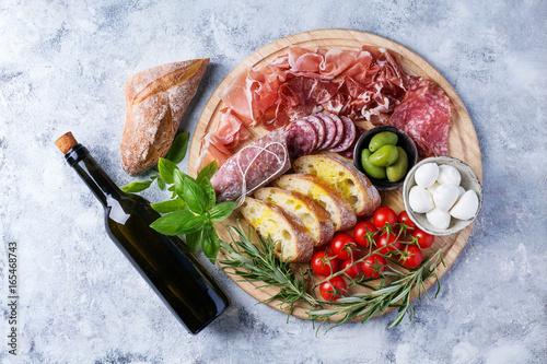 Set of meat antipasti Fototapeta
