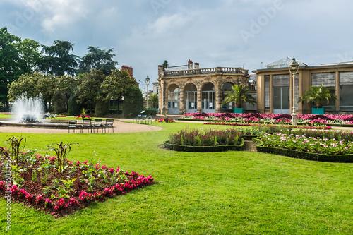 Thabor park (Le parc du Thabor) in Rennes - one of finest examples of landscape art of the XIII century public parks Tapéta, Fotótapéta