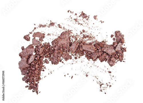 Canvas-taulu Crushed brown eyeshadows isolated on a white background