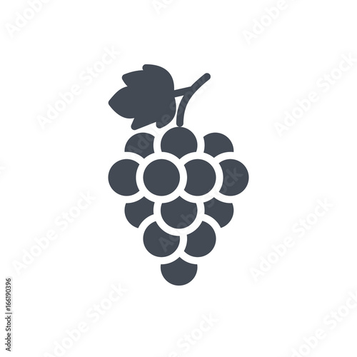 Valokuvatapetti Fruits food grape silhouette icon