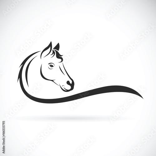 Wektor głowa konia na białym tle. Dzikie zwierze