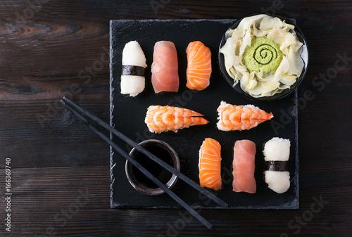 Fototapeta Set of sushi
