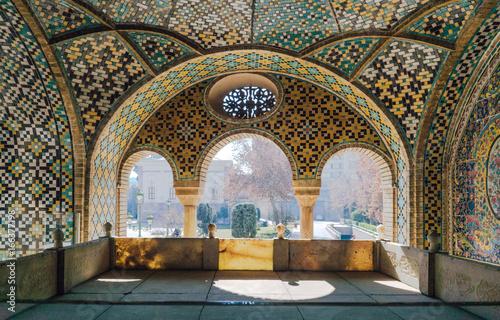 Colorful mosaic pattern of Golestan Palace