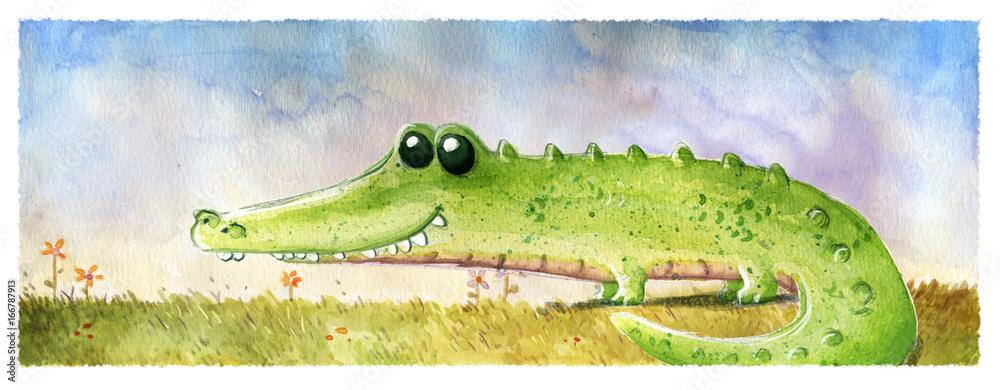 krokodyl w polu <span>plik: #166787913 | autor: cirodelia</span>