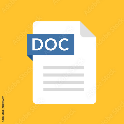 DOC file icon Fototapet
