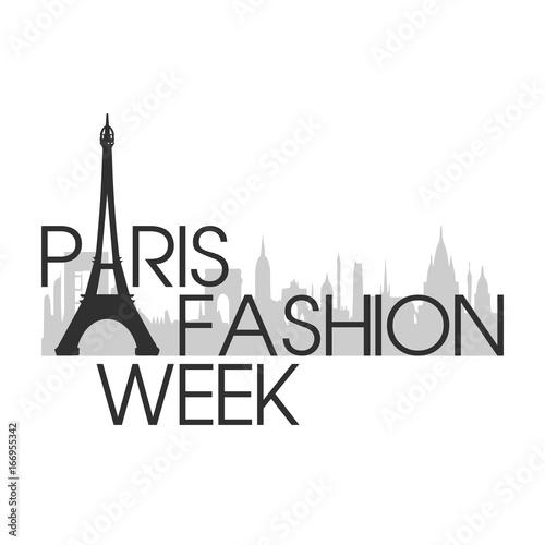 Canvas Print paris fashion week