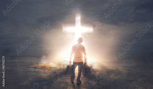 Obraz na płótnie Taking Darkness to the Cross
