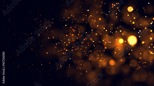 Fotografie, Tablou Gold abstract bokeh background