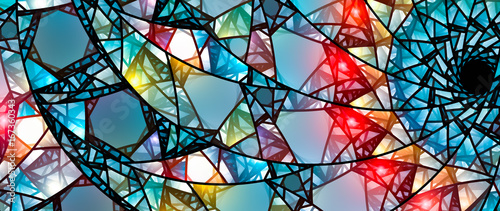 Colorful glowing stained glass