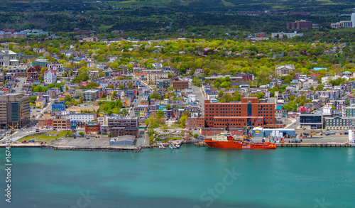 Photo Aerial view of colorful houses and buildings in St