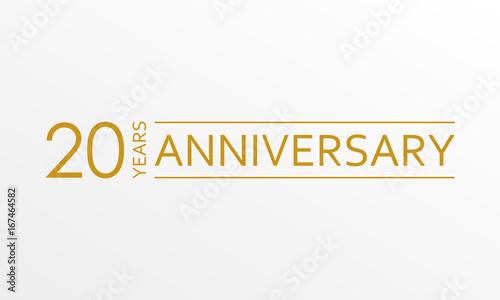Obraz na płótnie 20 years anniversary emblem
