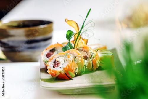 Obraz na plátně set of sushi