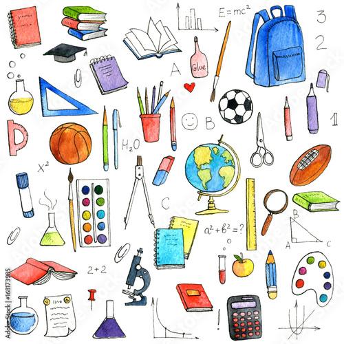 zestaw szkolny doodle