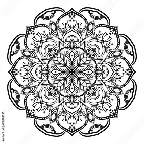 Fototapeta Decorative mandala isolated on white background