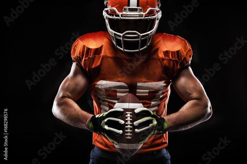 Canvas Print American football sportsman player