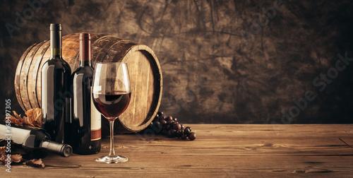 Obraz na plátně Traditional winemaking and wine tasting
