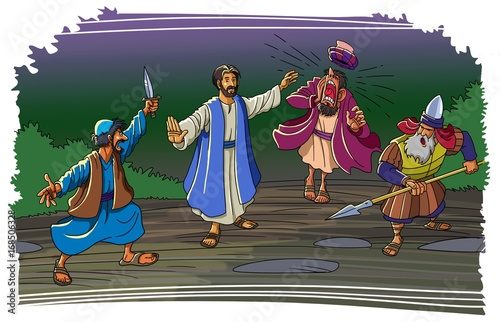The soldiers arrested Jesus in the Garden of Gethsemane Fototapet